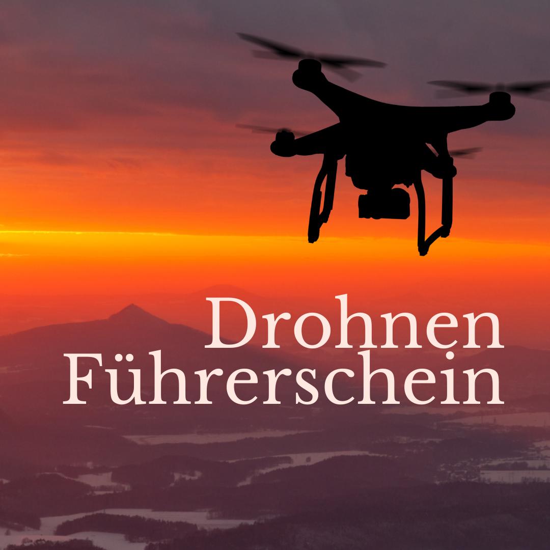 Drohne Abendrot